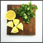 lemons and cilantro
